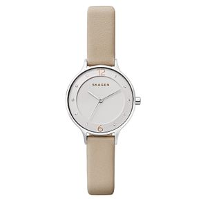 Skagen Ladies' Pink Leather Strap Watch - Product number 8144826