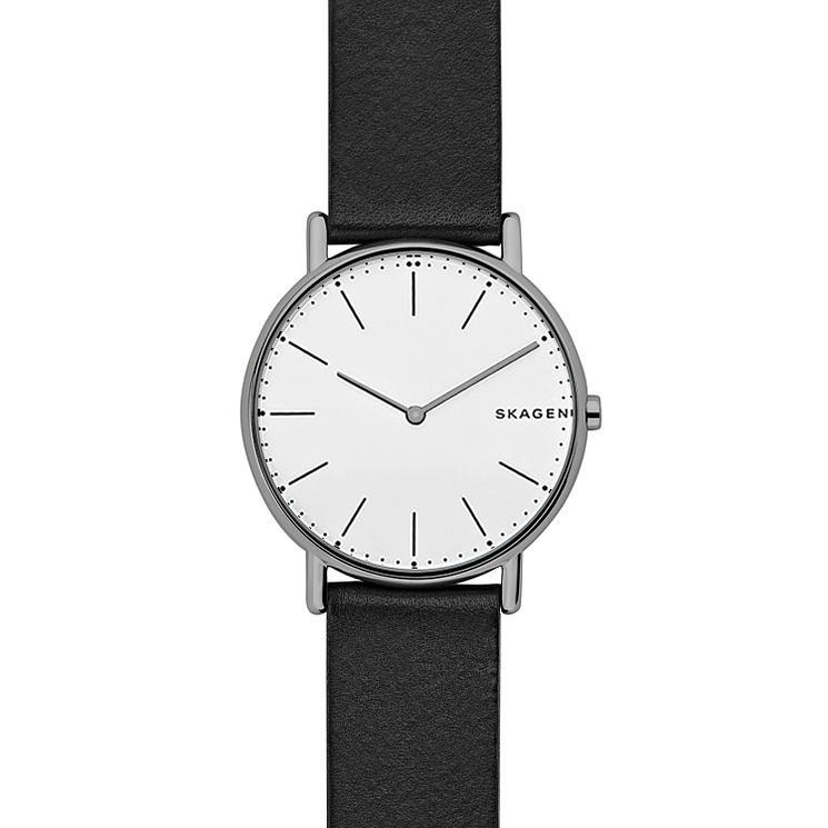 Skagen Signatur Men's Black Leather Strap Watch - Product number 8144869