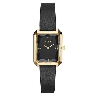 DKNY Cityspire Ladies' Black Leather Strap Watch - Product number 8144915