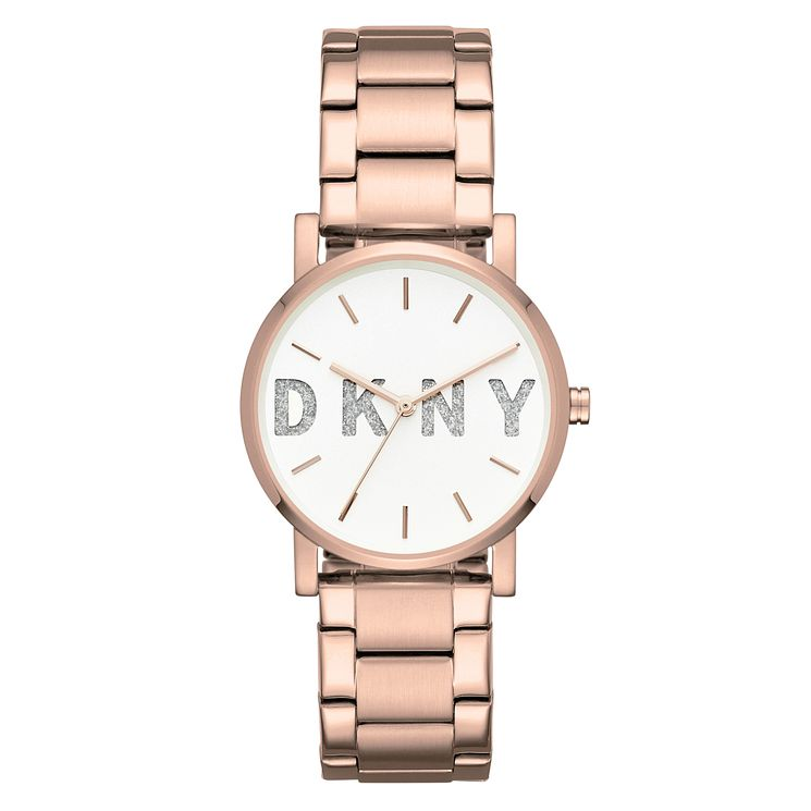 DKNY SoHo Ladies' Rose Gold Stainless Steel Bracelet Watch - Product number 8144958