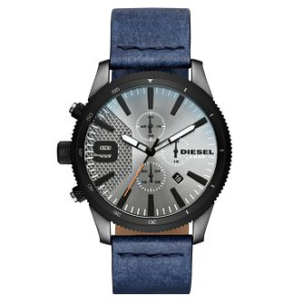 Diesel Men's Blue Leather Strap Watch - Product number 8144982