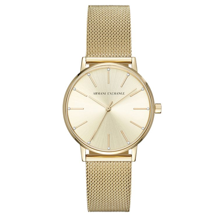 Armani Exchange Ladies' Gold Plated Steel Bracelet Watch - Product number 8145024