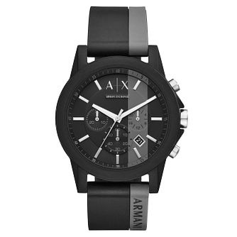 Armani Exchange Men's Black Silicone Strap Watch - Product number 8145091