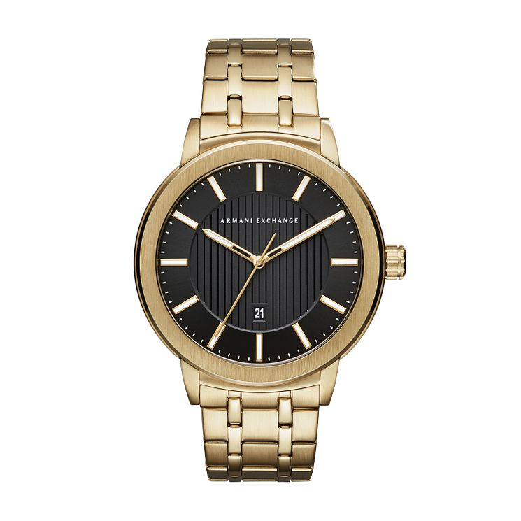Armani Exchange Men's Gold Plated Steel Bracelet Watch - Product number 8145113