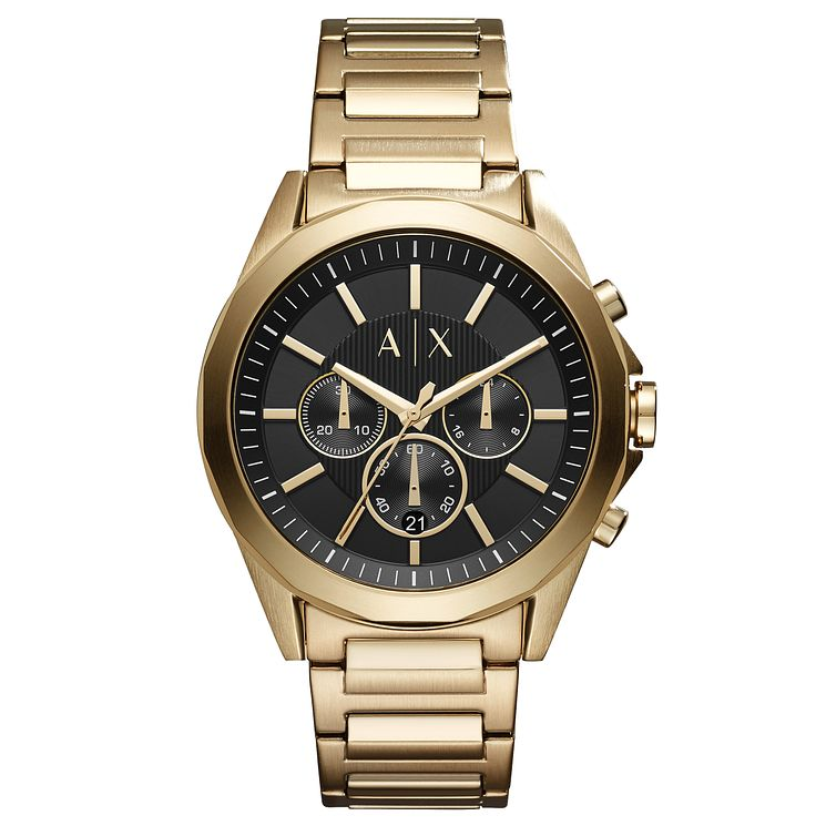Armani Exchange Men's Gold Plated Steel Bracelet Watch - Product number 8145156