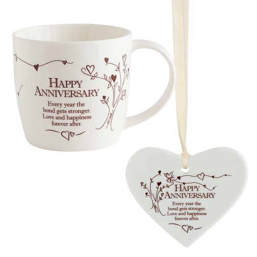 Happy Anniversary Mug & Decoration Gift Set - Product number 8145733