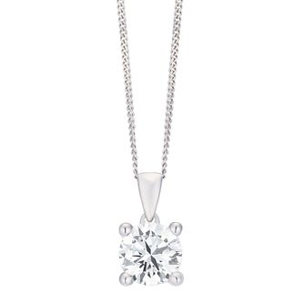 18ct White Gold 1ct H/I SI2 Diamond Pendant - Product number 8147213