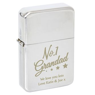 Personalised 'No.1 Grandad' Silver Lighter - Product number 8147574