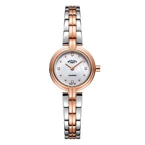 Rotary Ladies' Two Colour Diamond Bracelet Watch - Product number 8147612