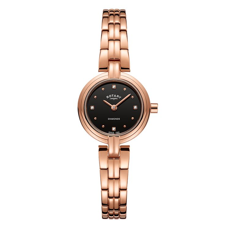 Rotary Ladies' Rose Gold Plated Diamond Bracelet Watch - Product number 8147620