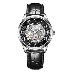 Rotary Men's Black Leather Strap Watch - Product number 8147639