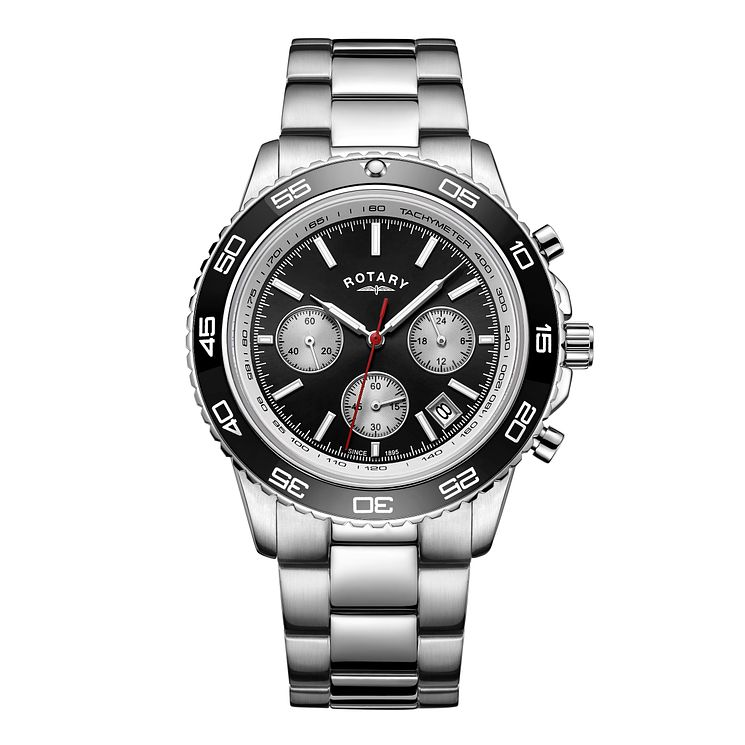 Rotary Men's Stainless Steel Bracelet Chronograph Watch - Product number 8147647