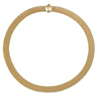 "9ct Yellow Gold Woven 18"" Necklace - Product number 8147760"