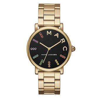 Marc Jacobs Classic Ladies' Yellow Gold Tone Strap Watch - Product number 8147884