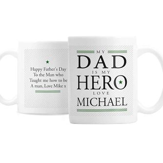 Personalised My Dad is My Hero Mug - Product number 8148147