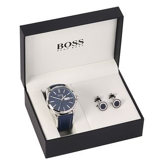 Hugo Boss Men's Blue Cufflink & Watch Set - Product number 8150117