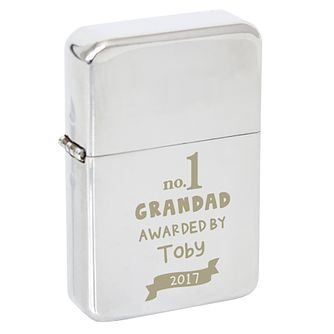 Personalised no.1 Awarded By Silver Lighter - Product number 8150567