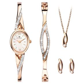 Accurist Ladies' Rose Gold Watch & Jewellery Gift Set - Product number 8151075