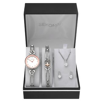 Sekonda Ladies' Silver Watch & Jewellery Gift Set - Product number 8151172