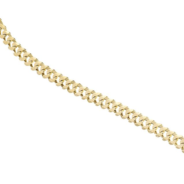 9ct Yellow Gold Flat Curb Necklace - Product number 8151601