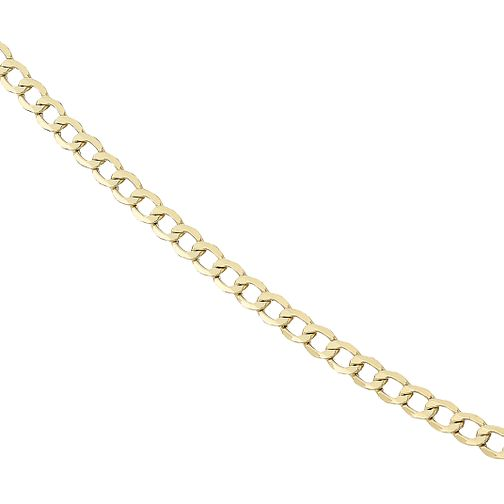 "Men's 9ct Gold Curb Chain 20"" - Product number 8151741"
