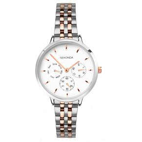 Sekonda Editions Ladies' Two Tone Steel Bracelet Watch - Product number 8152500