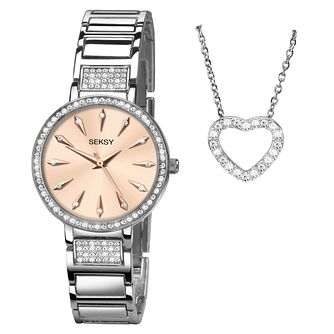 Seksy Ladies' Stone-Set Watch Gift Set - Product number 8152519
