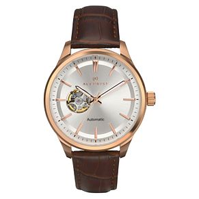 Accurist Men's Automatic Brown Leather Strap Watch - Product number 8152527