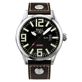 Ball Engineer Master II Aviator Men's Brown Strap Watch - Product number 8154082