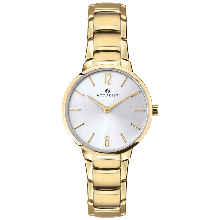 Accurist Ladies' Gold Plated Stainless Steel Watch - Product number 8157995