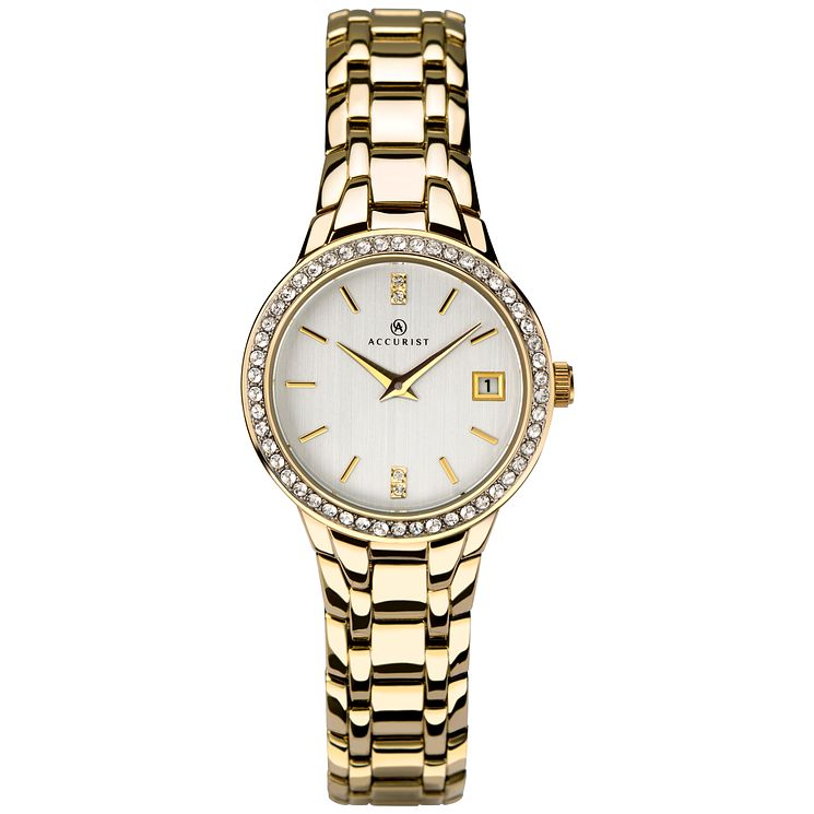 Accurist Ladies' Gold Plated Brass Bracelet Watch - Product number 8158401