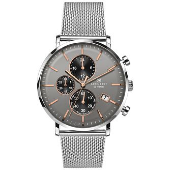 Accurist Men's Stainless Steel Milanese Chronograph Watch - Product number 8158517