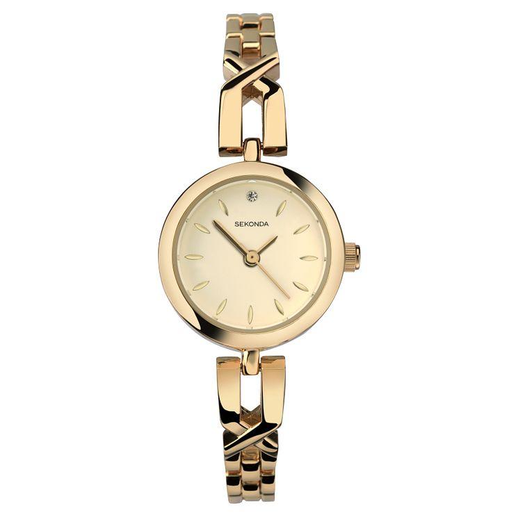 Sekonda La s Gold Plated Bracelet Watch