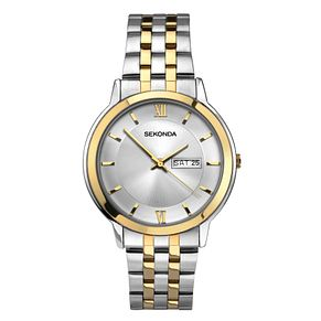 Sekonda Men's Two Tone Stainless Steel Bracelet Watch - Product number 8158630