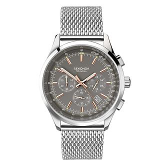 Sekonda Men's Stainless Steel Mesh Bracelet Watch - Product number 8158657