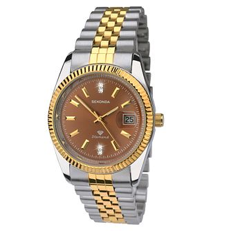 Sekonda Men's Two Tone Stainless Steel Bracelet Watch - Product number 8158673