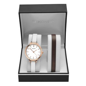 Sekonda Editions Ladies' Two Leather Strap Watch Set - Product number 8158746