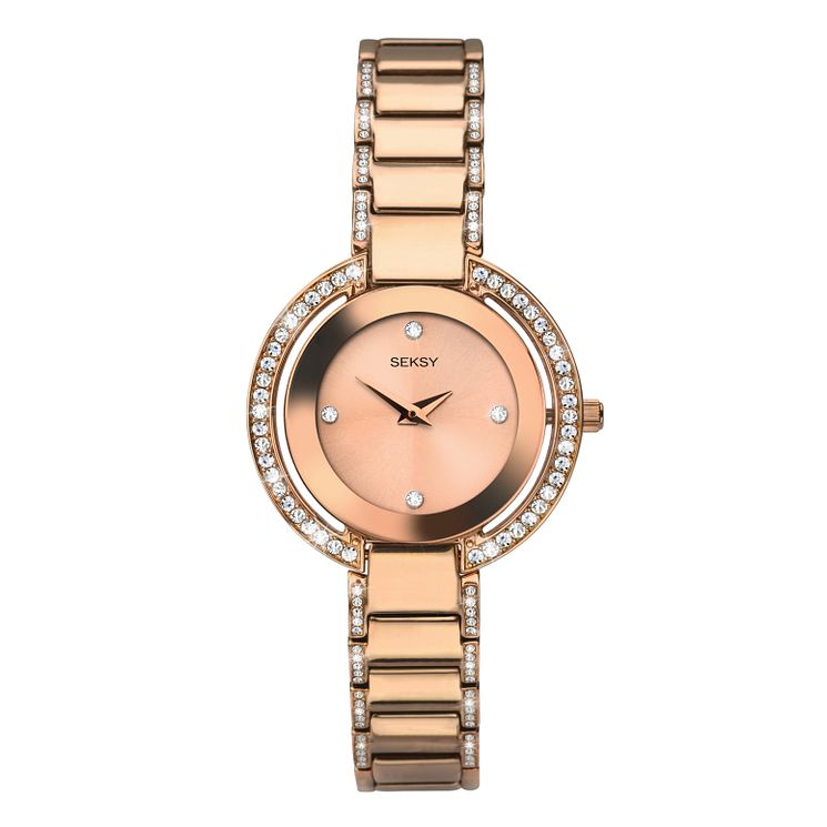 Seksy Ladies' Rose Gold Plated Steel Bracelet Watch - Product number 8158797