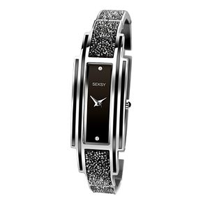 Seksy Rocks Ladies' Black & Silver Bracelet Strap Watch - Product number 8158878