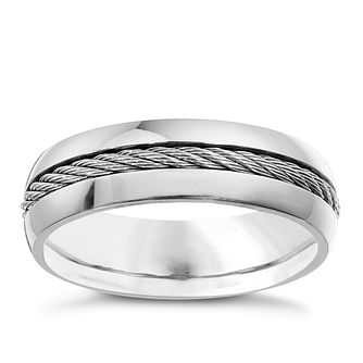 Men's titanium grey rope ring - Product number 8160333