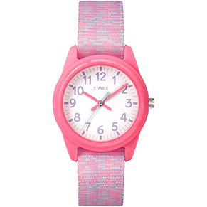 Timex Time Machines Children's Pink Nylon Strap Watch - Product number 8163553