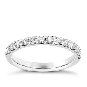 9ct White Gold Half Carat Diamond Eternity Ring - Product number 8176884