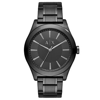 Armani Exchange Men's Black Stainless Steel Bracelet Watch - Product number 8178909