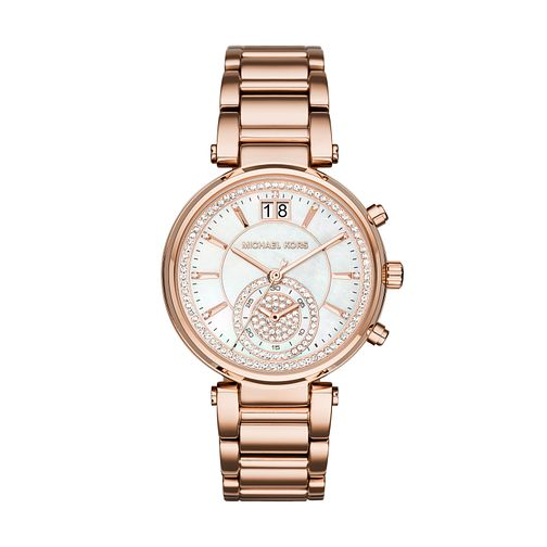 Michael Kors Sawyer Ladies' Rose Gold Tone Bracelet Watch - Product number 8180822