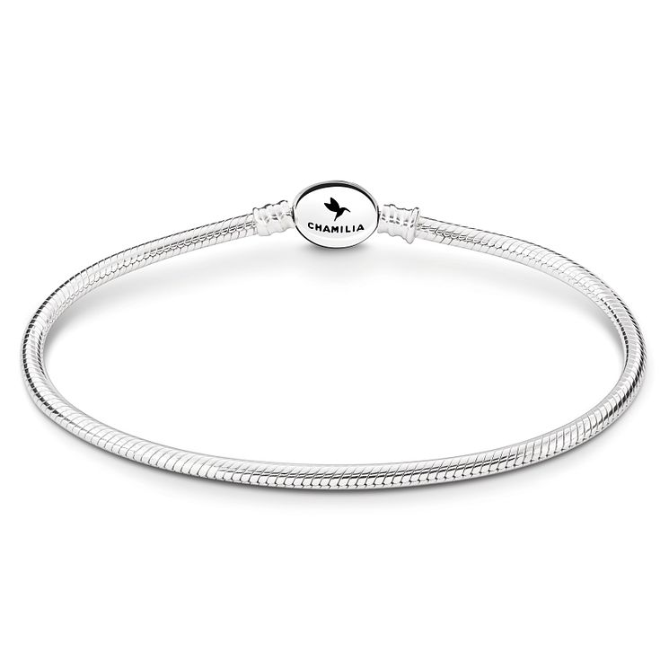 Chamilia Sterling Silver Oval Snap 8.3in Bracelet - Product number 8180903