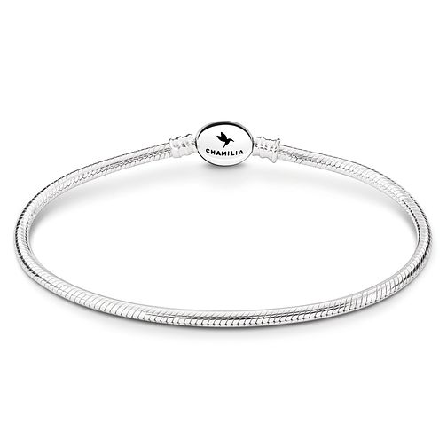Chamilia Sterling Silver Oval Snap 8.7in Bracelet - Product number 8180911