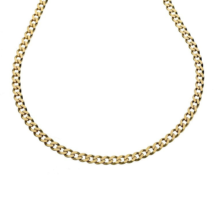 9ct gold solid curb chain - Product number 8181276