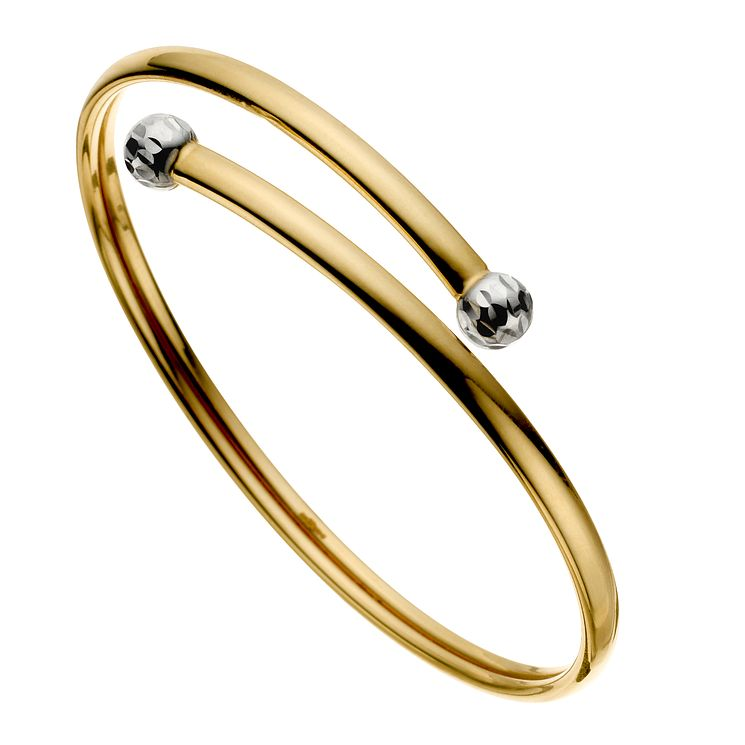 9ct Gold Two Tone Torque Bangle - Product number 8185093