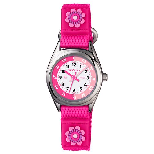 Tikkers Children's Pink Velcro Strap Watch - Product number 8185891