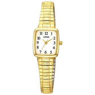 Lorus Ladies' Gold-Plated Expander Bracelet Watch - Product number 8190976